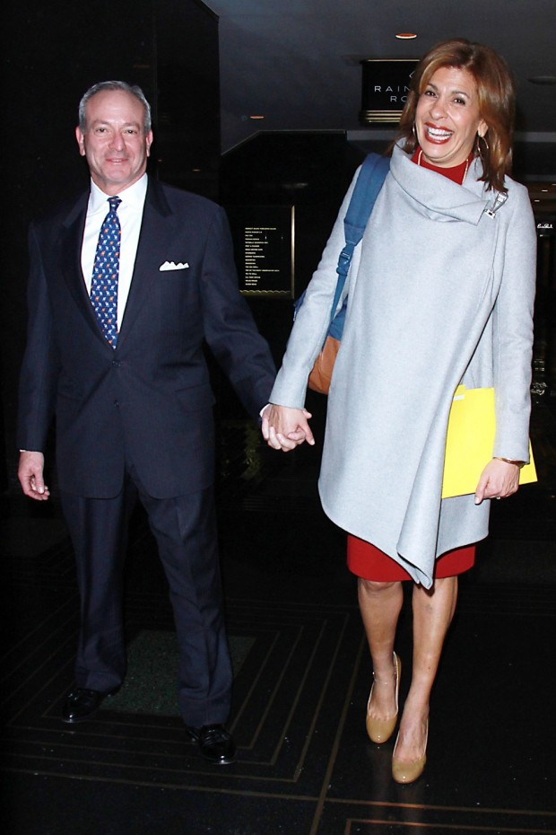 Hoda Kotb and partner Joel Schiffman leave her book signing for 'I've Loved You Since Forever'