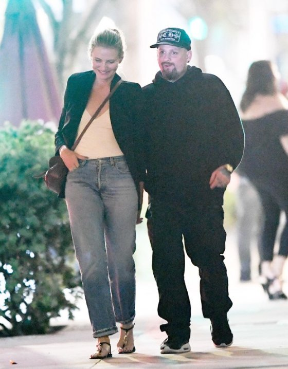 EXCLUSIVE: Cameron Diaz and Benji Madden pack on the PDA during a date night