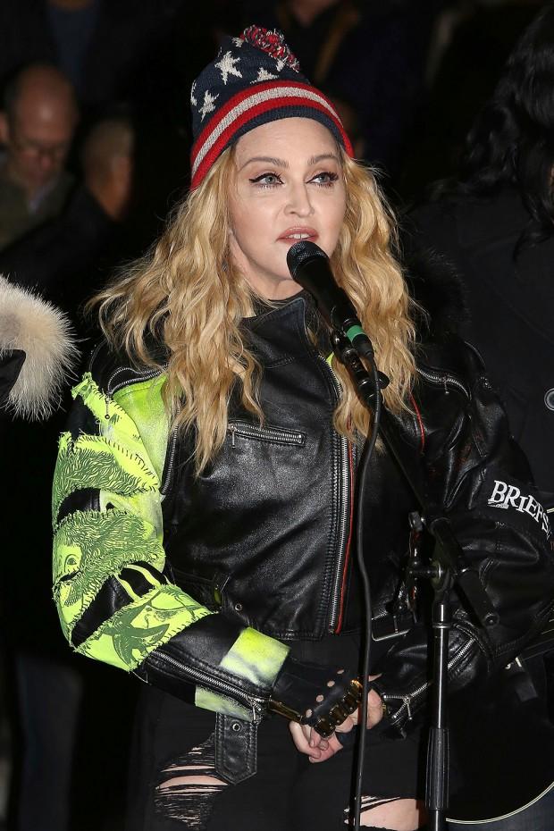 Madonna Performance at Washington Square Park, New York, USA