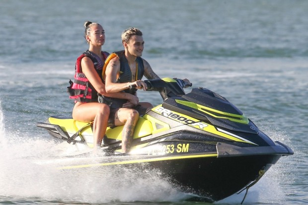 Dua Lipa and Anwar Hadid are a sexy duo riding Jet skis in Miami