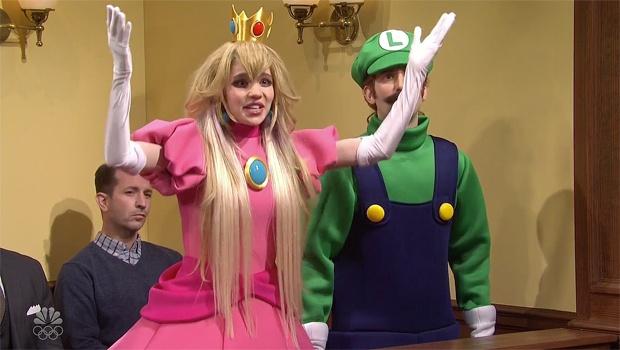 Илон Маск и его возлюбленная Граймс сыграли в скетче на тему видеоигры про Марио - 1