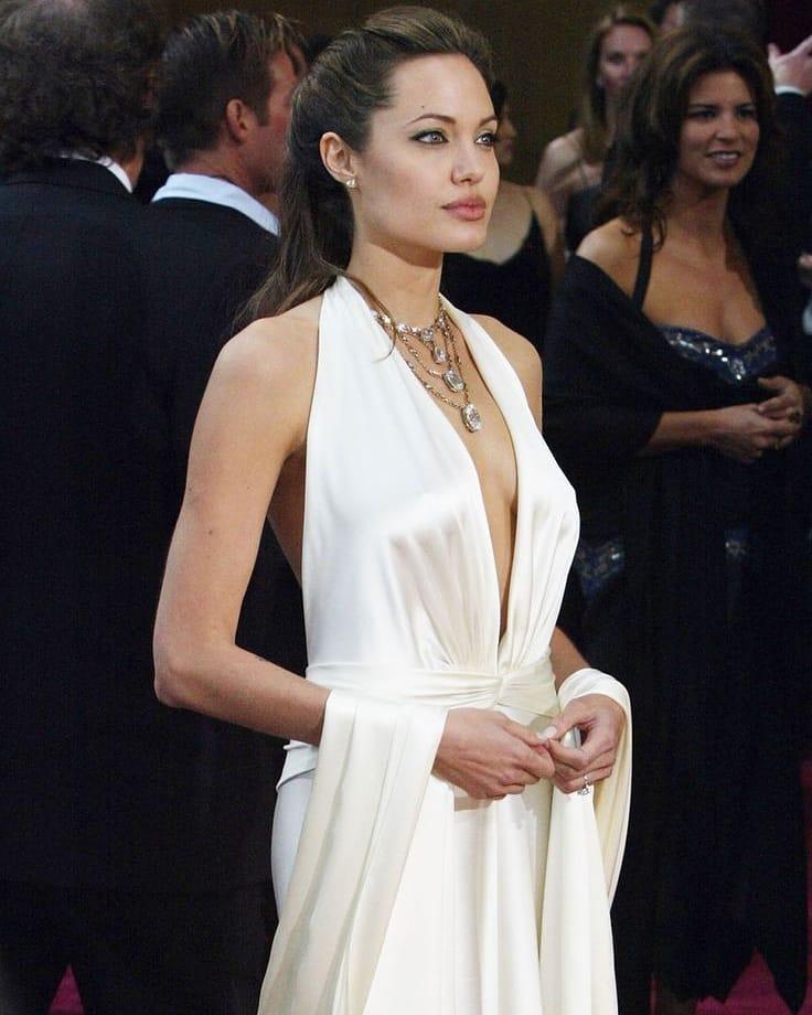 Анджелина Джоли с бутылкой дорогого вина направилась в квартиру бывшего супруга - 1