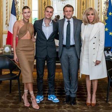 Хейли Бибер выбрала неуместный наряд на встречу с президентом Франции - 2