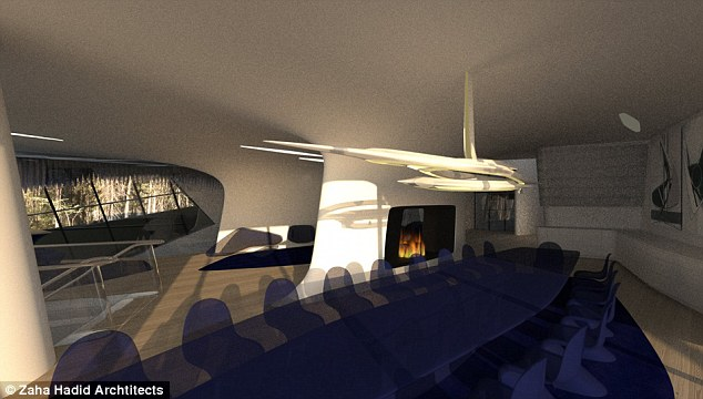 Something out of a science fiction movie: Architect Zaha Hadid is known for her quirky style