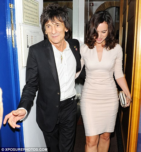 Third time lucky: Ronnie Wood is to marry for a third time after popping the question to girlfriend of six months, Sally Humphries