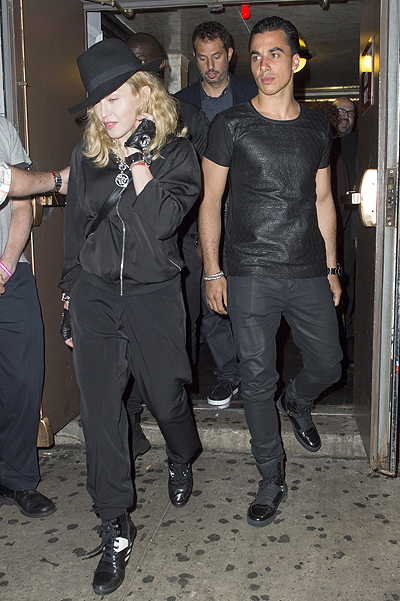 EXCLUSIVE: Madonna with Timor Steffens attend Broadway play in NYC
