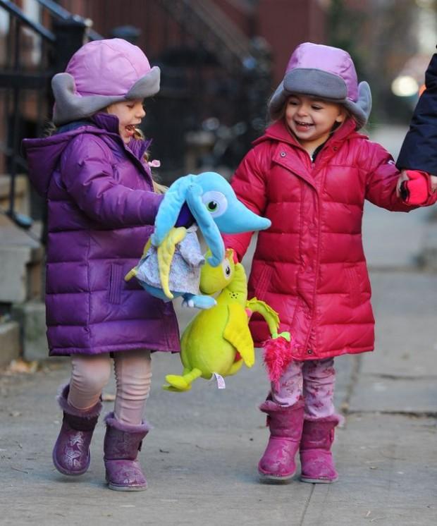 Sarah Jessica Parker's twins on their way to school, New York, America - 11 Dec 2013