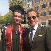 Арнольд Шварценеггер поздравил сына с окончанием колледжа