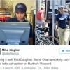 Саша Обама работает кассиром