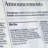 The Telegraph поздравила Джона и Мэри Ватсон с рождением дочери