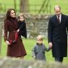 Фото дня: Кейт Миддлтон и принц Уильям на рождественской службе с детьми
