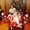 Селин Дион опубликовала рождественскую фотографию с сыновьями