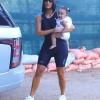 Ким Кардашьян гуляет с дочерью Чикаго