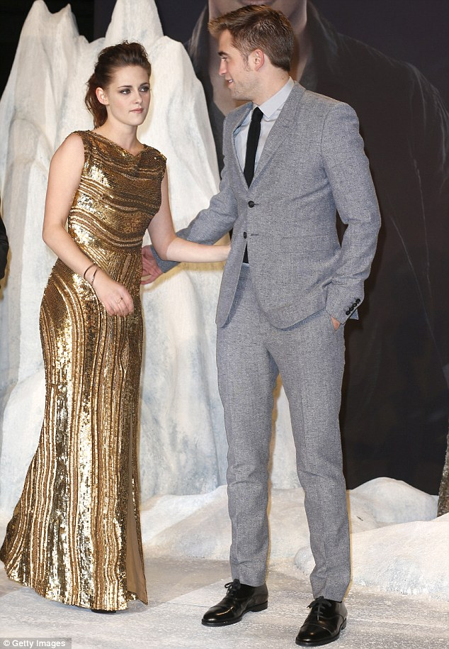 United front: Kristen and R-Patz continued their public display of unity in the wake of her summer cheating scandal with married director Rupert Sanders