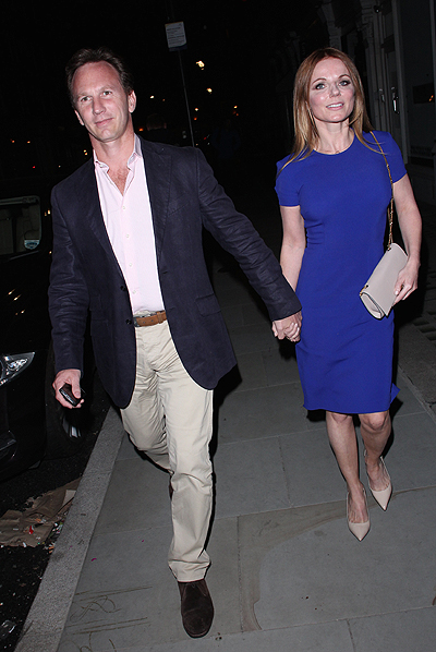 Christian Horner and Geri Halliwell at the Chiltern Firehouse on June 12, 2014 in London, England