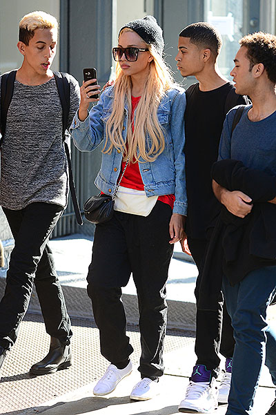 Amanda Bynes talks on her phone while out and about with friends in SoHo, NYC