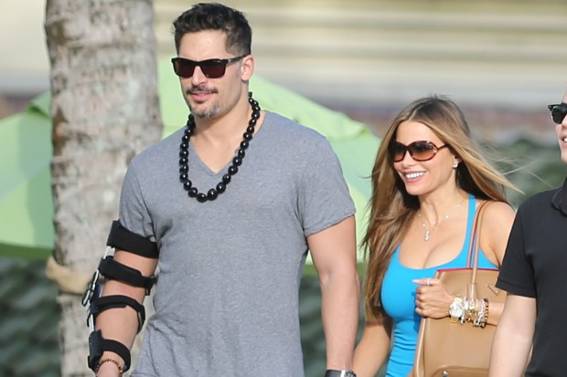 sofia vergara and Joe Manganiello look happy and in love holding hands while on vacation in Hawaii.