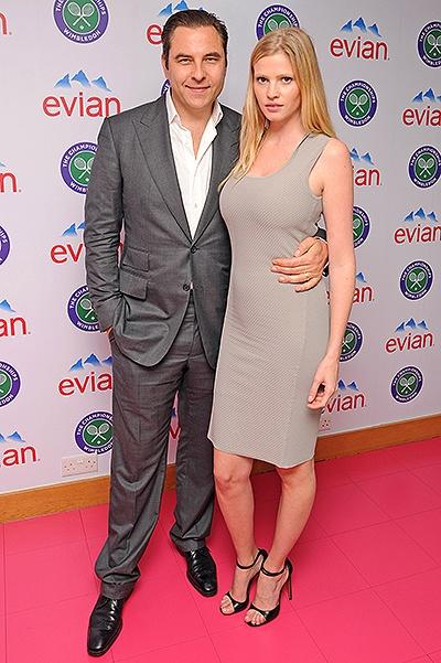 Celebrities At Wimbledon's Evian Suite