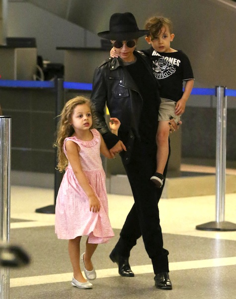 Semi-Exclusive... Nicole Richie & Kids Land At LAX Airport