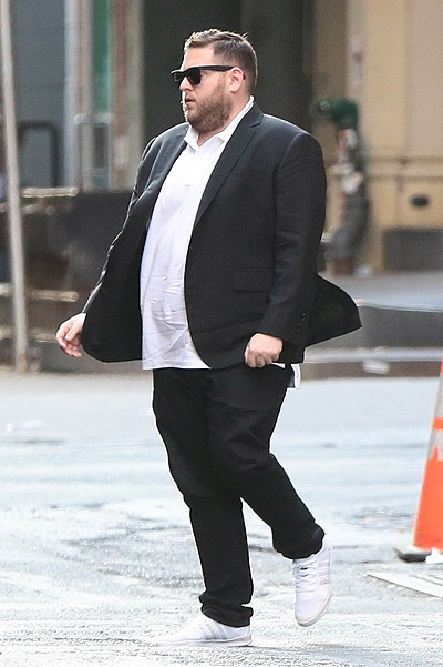Jonah Hill Waits For A Ride In NYC