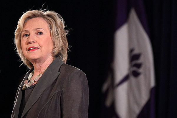 Presidential Candidate Hillary Clinton Gives Economic Address In New York