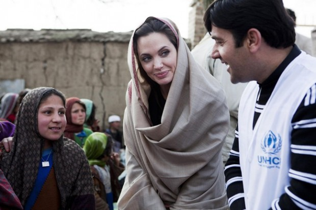 Angelina Jolie visits displaced families in Kabul, Afghanistan, as part of her work as a United Nations Goodwill Ambassador for refugees Kabul, Afghanistan - 02.03.11  **Only available for publication in the UK and USA. Not available for the rest of the world ** Mandatory Credit: News Pictures/WENN.com