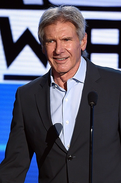 LOS ANGELES, CA - NOVEMBER 22:  Actor Harrison Ford speaks onstage during the 2015 American Music Awards at Microsoft Theater on November 22, 2015 in Los Angeles, California.  (Photo by Kevin Winter/Getty Images)