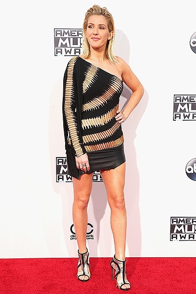 LOS ANGELES, CA - NOVEMBER 22:  Singer Ellie Goulding attends the 2015 American Music Awards at Microsoft Theater on November 22, 2015 in Los Angeles, California.  (Photo by Mark Davis/Getty Images)