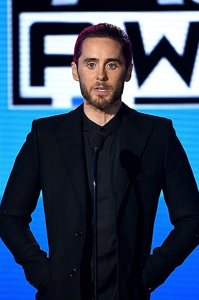 LOS ANGELES, CA - NOVEMBER 22:  Actor/musician Jared Leto speaks onstage during the 2015 American Music Awards at Microsoft Theater on November 22, 2015 in Los Angeles, California.  (Photo by Kevin Winter/Getty Images)