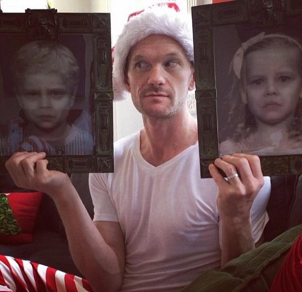 Нейл Патрик Харрис с портретами детей