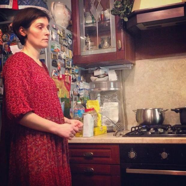 Русская беременная дала 2 фотография