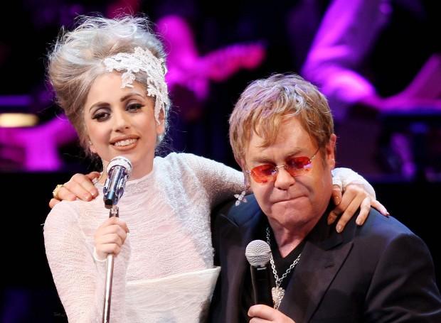 Леди Гага пишет новый альбом в компании Элтона Джона