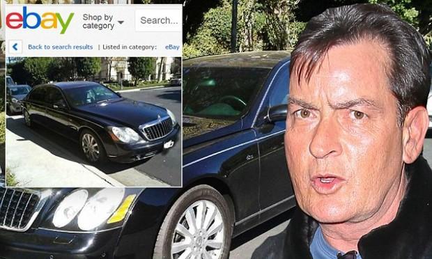 Чарли Шин продает авто