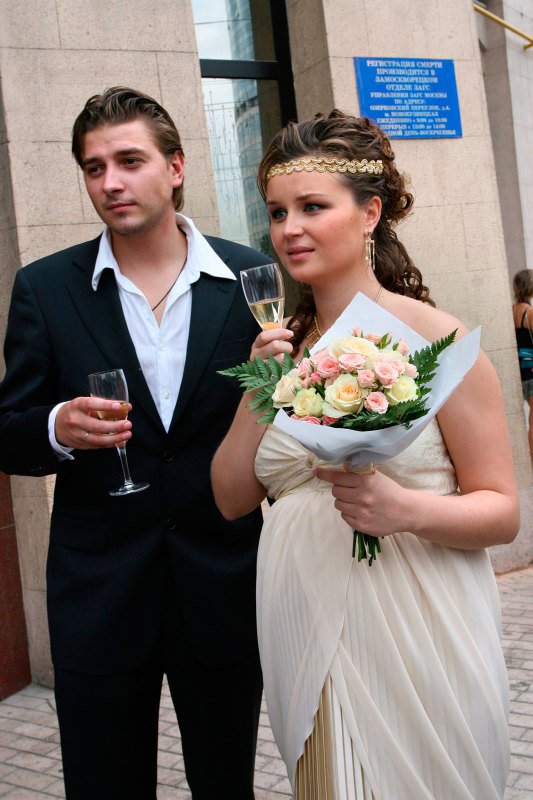 Гагарина с мужем