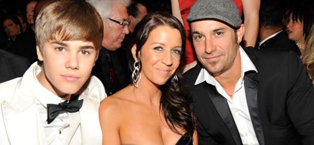 Джастин Бибер с отцом и его невестой