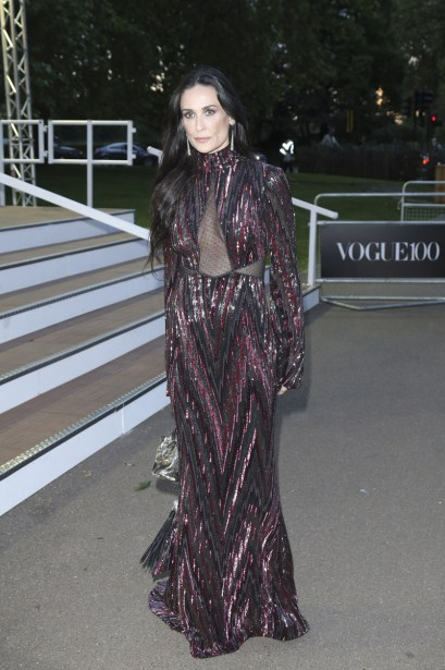 Demi Moore at the British Vogue Centenary Gala Dinner, Kensington Gardens, London. Pictured: Demi Moore Ref: SPL1289387  230516   Picture by: Splash News Splash News and Pictures Los Angeles:310-821-2666 New York:212-619-2666 London:870-934-2666 photodesk@splashnews.com