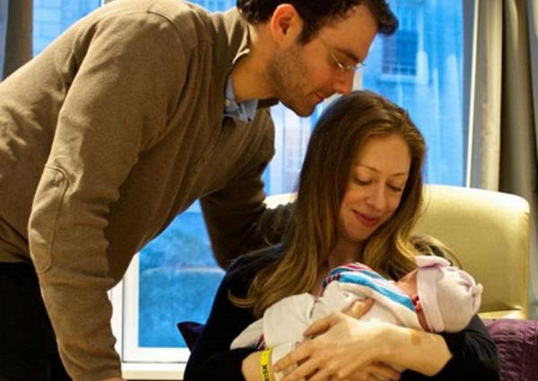 Челси и Марк с Шарлоттой