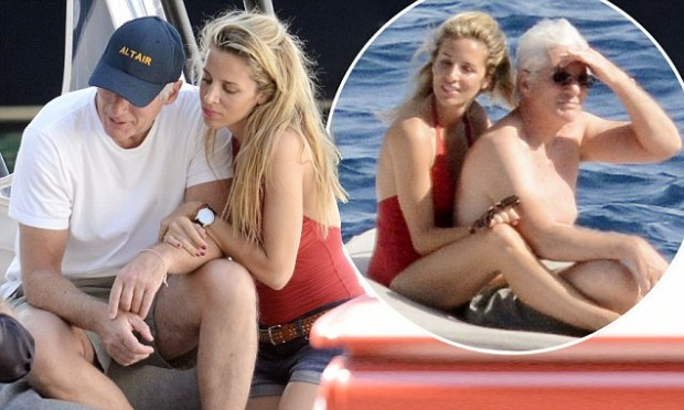EXC - RICHARD GERE AND GIRLFRIEND ALEJANDRA SILVA ON HOLIDAY