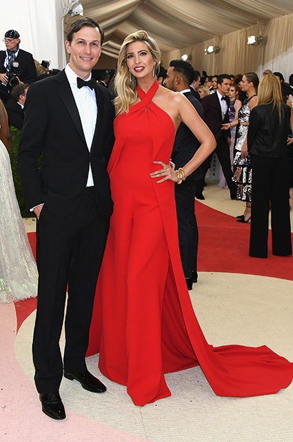 """NEW YORK, NY - MAY 02:  Jared Kushner (L) and Ivanka Trump attend the """"Manus x Machina: Fashion In An Age Of Technology"""" Costume Institute Gala at Metropolitan Museum of Art on May 2, 2016 in New York City.  (Photo by Larry Busacca/Getty Images)"""
