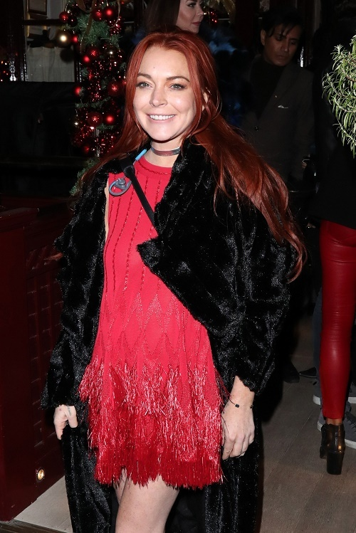 Lindsay Lohan Seen Leaving Lou Lous Members Club In London
