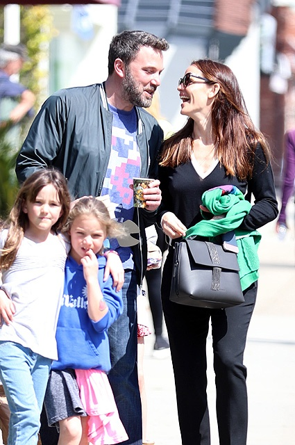 Jennifer Garner and Ben Affleck get close during their Sunday church outing
