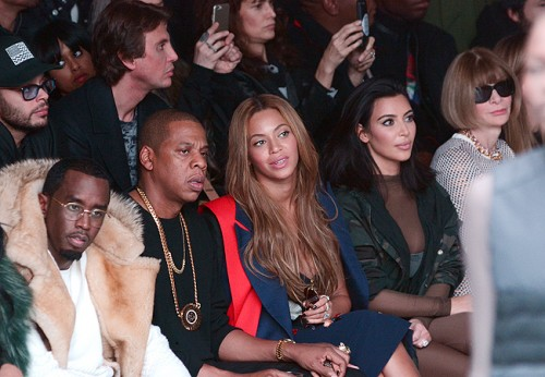 Mercedes Benz Fashion Week - Kanye West and Adidas Originals  - InsideFeaturing: Sean 'Diddy' Combs, Jay-Z, Beyonce, Kim KardashianWhere: New York City, New York, United StatesWhen: 12 Feb 2015Credit: Ivan Nikolov/WENN.com