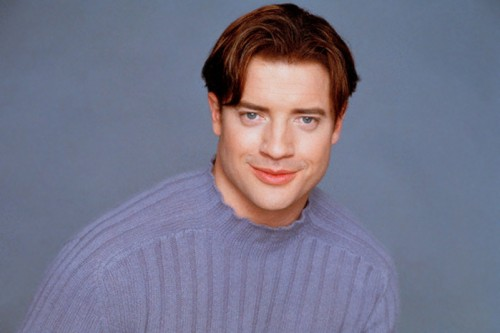 Brendan Fraser in Light Blue Sweater