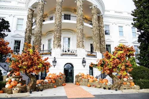 Trump and First Lady Welcome Children for Halloween at White House