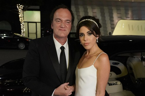 Quentin Tarantino And Wife Daniela Pick Arrive At Their Wedding Reception In Los Angeles