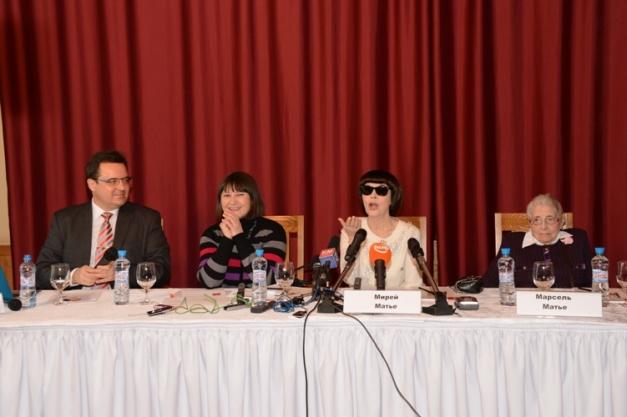 Мирей Матье,  Марсель Матье и Евгений Сафроно