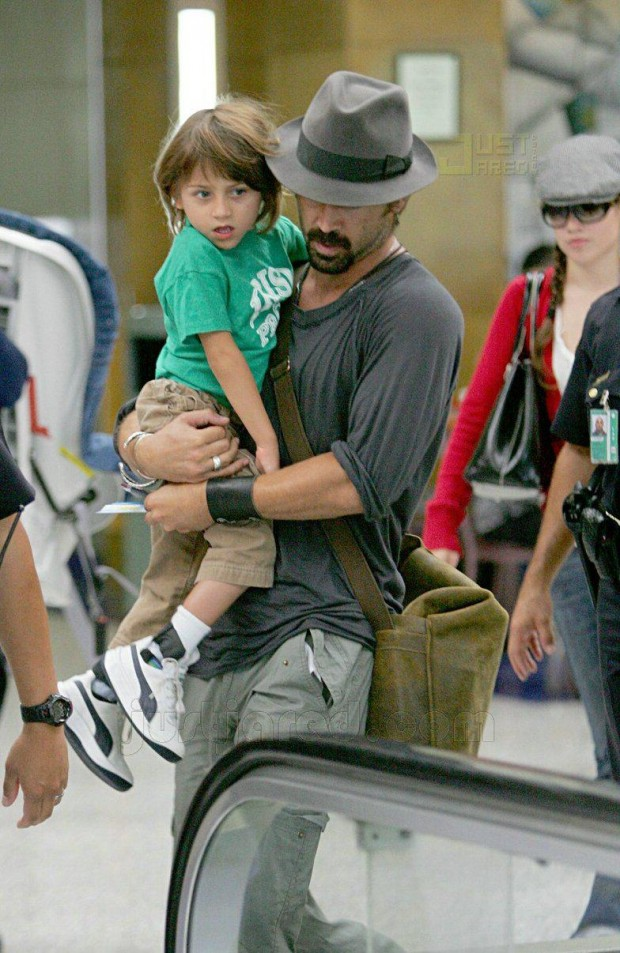 Colin Farrell - proud father