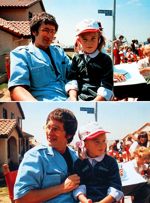 Steven-Spielberg-and-Drew-Barrymore-on-the-set-of-E.T.-in-1982-1