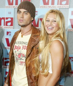 Pop singer Enrique Iglesias and tennis player Anna