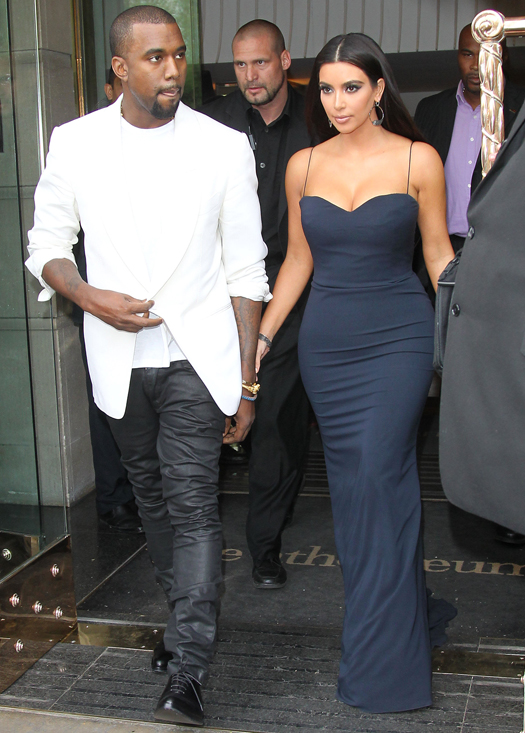 Kim and Kayne leaving their hotel